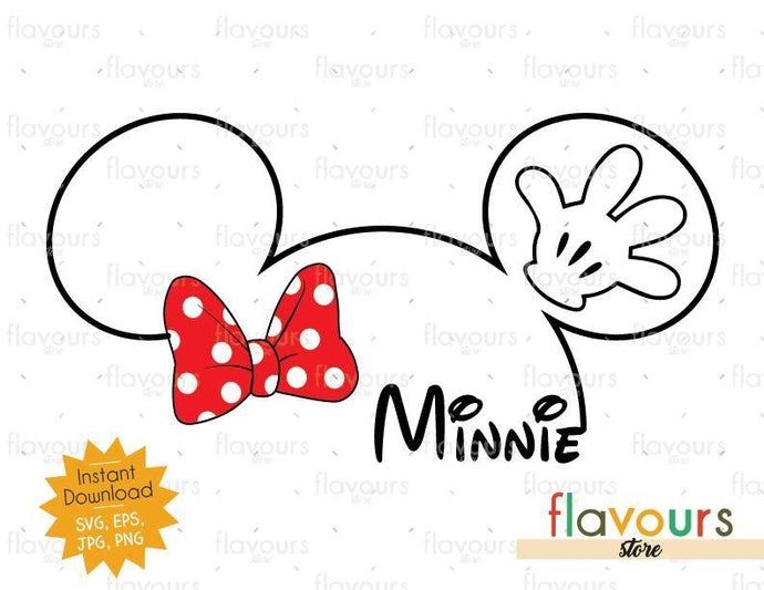 Minnie Silhouette - Instant Download - SVG Cut File - FlavoursStore