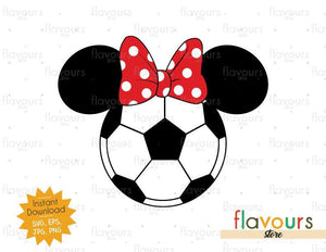 Minnie Soccer Ears - Instant Download - SVG Files