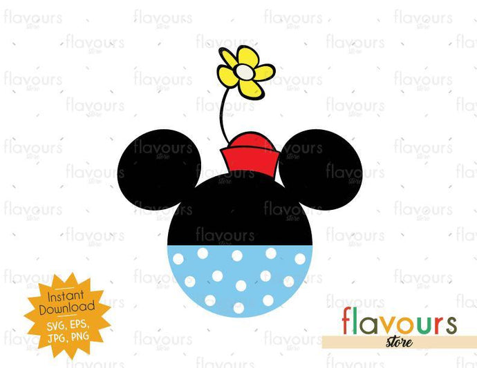 Minnie Vintage Ears - Instant Download - SVG Cut File