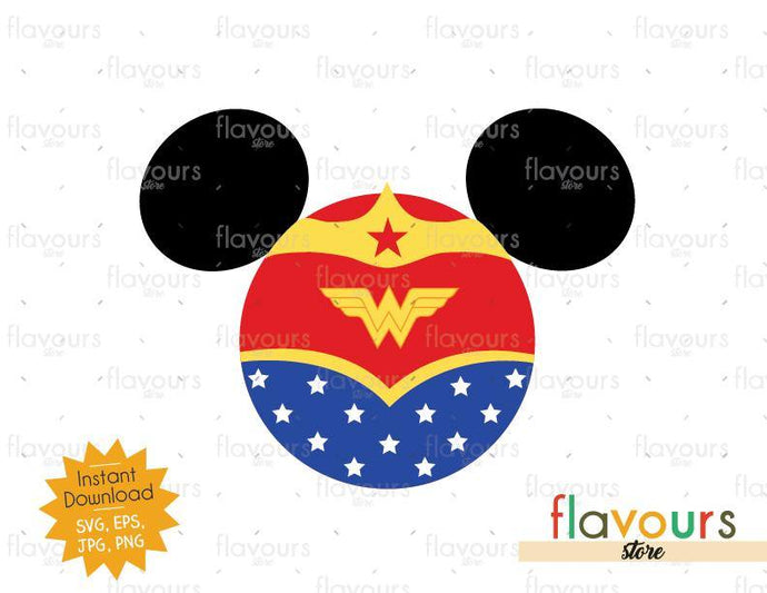 Wonder Woman Ears - Instant Download - SVG Cut File