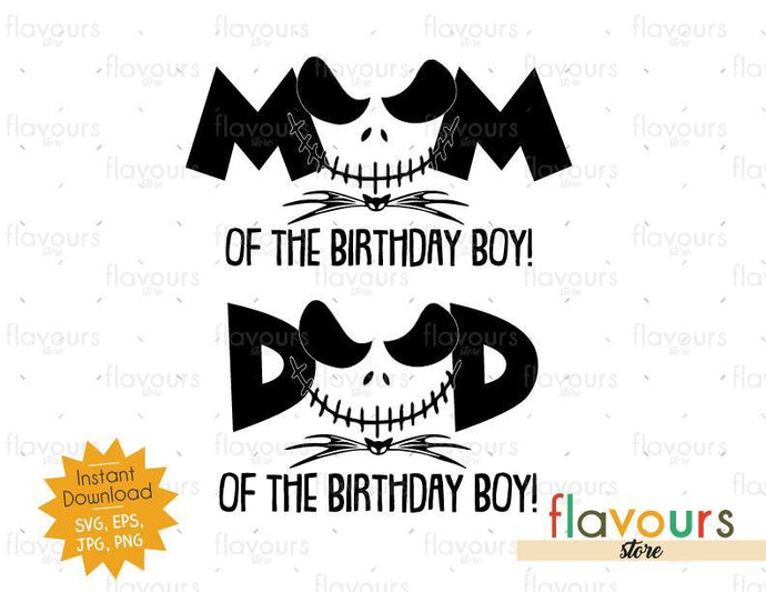 Mom and Dad of the Birthday Boy - Jack - Instant Download - SVG FILES