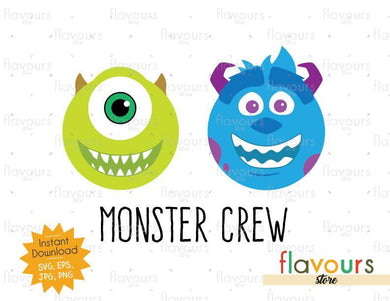 Monster Crew - Monsters Inc - SVG Cut File