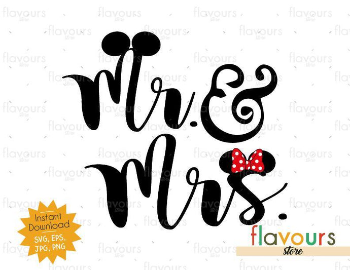 Mrs And Mr Ears - SVG Cut File