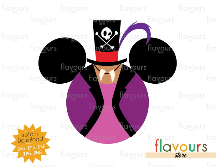 Dr Facilier Ears - Disney Characters - SVG Cut File