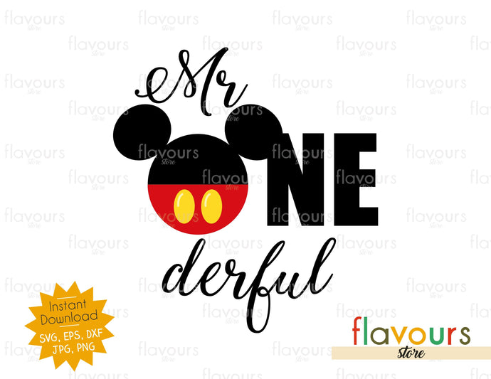 Mr ONEderful Mickey - SVG Cut File
