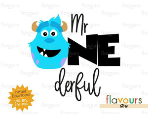 Mr Onderful - Sulley Monsters Inc - Instant Download - SVG FILES