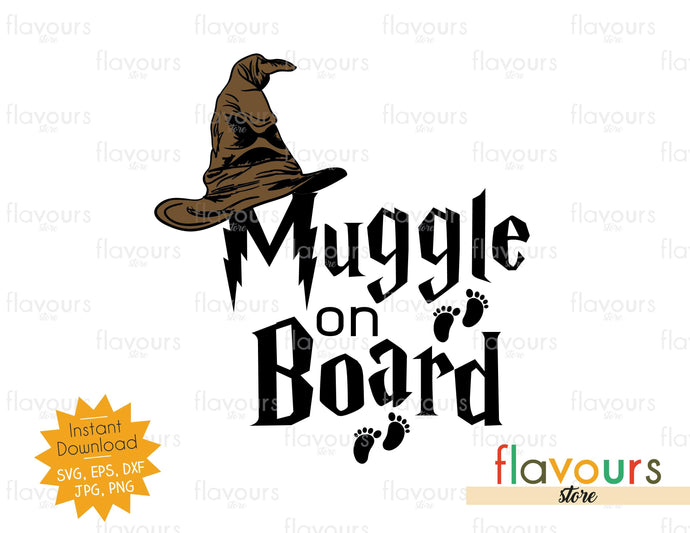 Muggle on Board - SVG Cut File