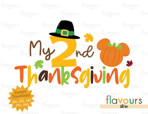 My 2nd Thanksgiving - SVG Cut File