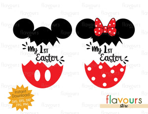 My 1st Easter - Minnie and Mickey Easter Eggs - INSTANT DOWNLOAD - SVG Files