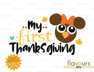 My First Thanksgiving - Minnie Turkey - SVG Files