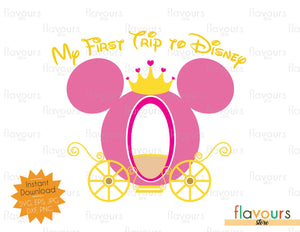 My first trip to Disney - Instant Download - SVG Cut File