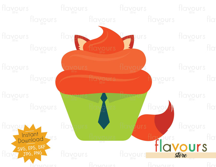 Nick Wilde - Cupcake - SVG Cut File