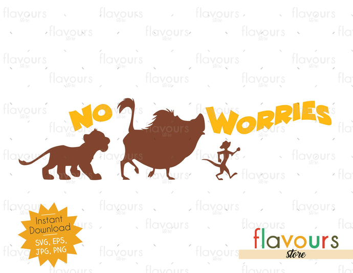 No worries - Lion King - SVG Cut File