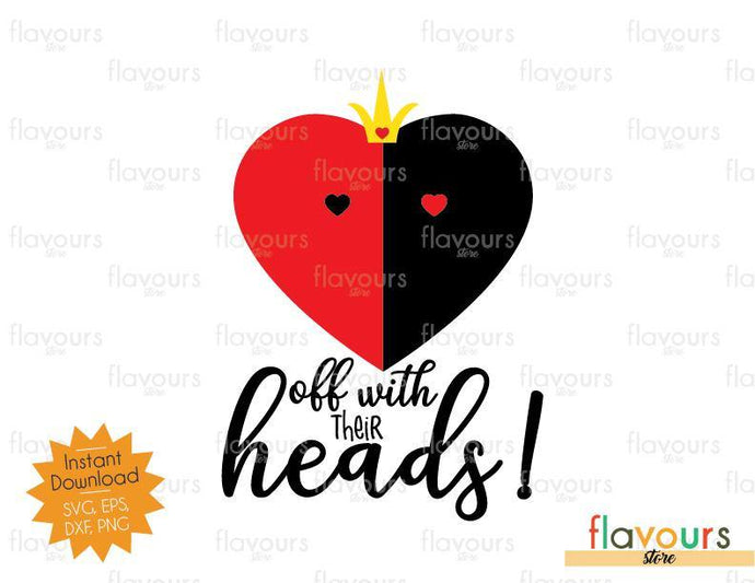 Off With Their Heads - SVG Cut File - FlavoursStore