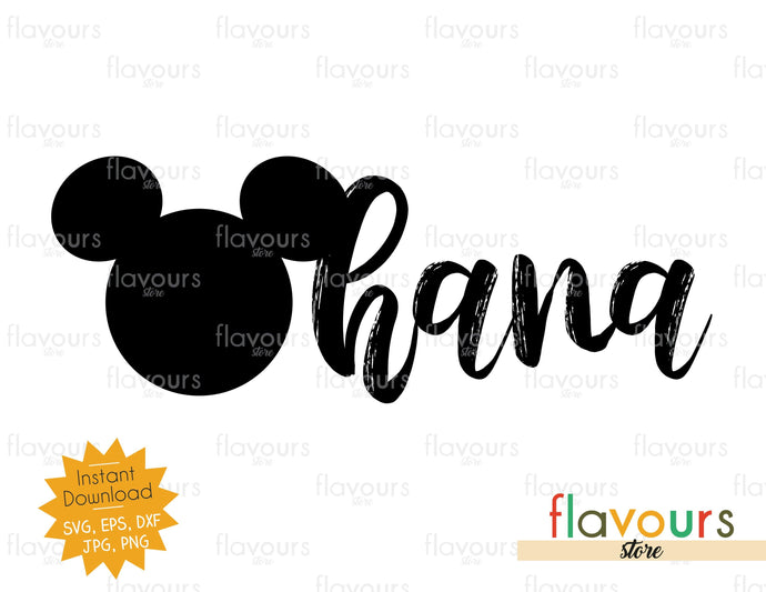Ohana - Instant Download - SVG Cut File - FlavoursStore