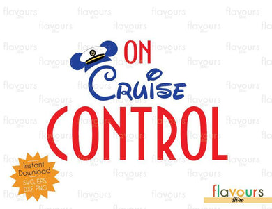 On Cruise Control - Disney SVG Cut File - FlavoursStore