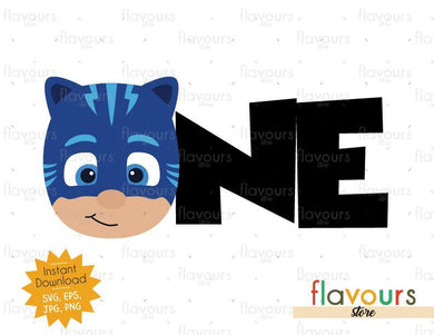 One - Cat Boy - Pj Mask - Instant Download - SVG FILES
