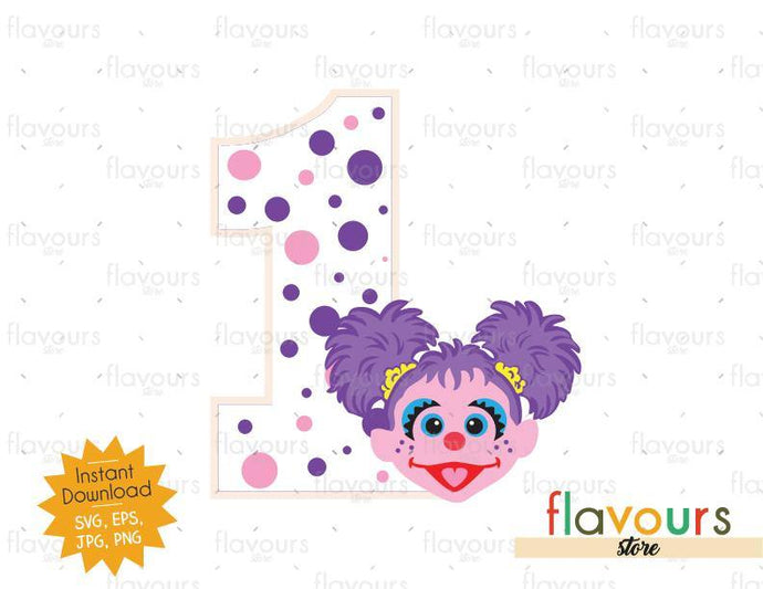 One - Abby - Sesame Street - Cuttable Design Files