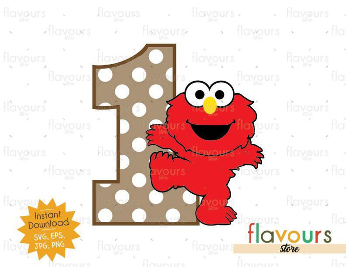 One - Baby Elmo - Sesame Street - Cuttable Design Files