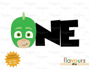 One - Gekko - Pj Mask - Instant Download - SVG FILES