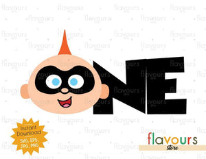 One - Jack Jack - The Incredibles - Instant Download - SVG FILES