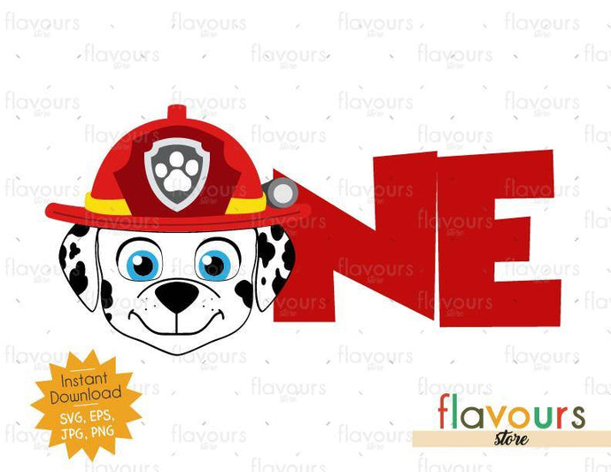 One - Marshall - Paw Patrol - SVG Cut File - FlavoursStore