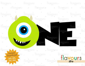 One - Mike Monsters Inc - Instant Download - SVG FILES
