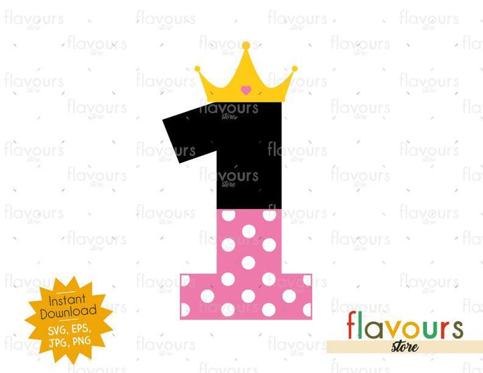 One Crown - Minnie Inspired - Instant Download - SVG FILES