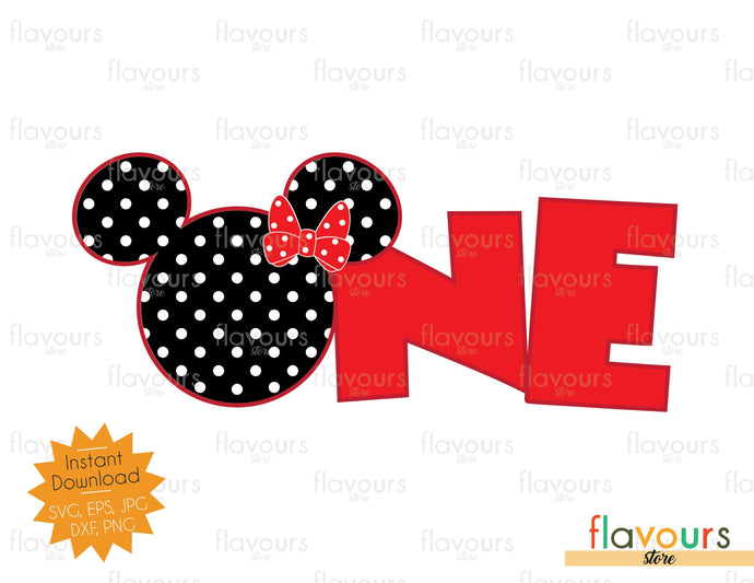 One Minnie Polka Dots - SVG Cut File