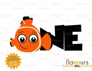 One - Nemo - Instant Download - SVG FILES
