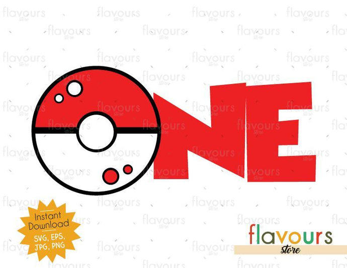 One - Pokeball - Pokemon - Cuttable Design Files