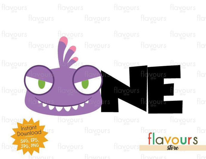 One - Randall Monsters Inc - Instant Download - SVG FILES