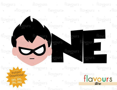 One - Robin - Teen Titans Go - Instant Download - SVG FILES