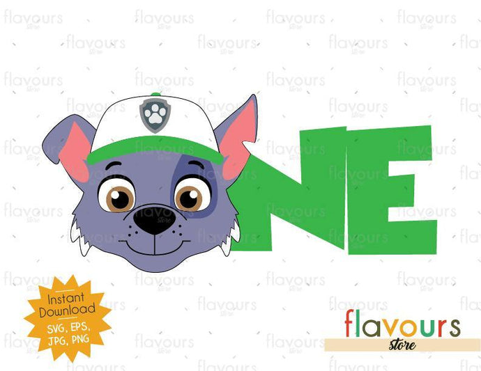 One - Rocky - Paw Patrol - Instant Download - SVG FILES