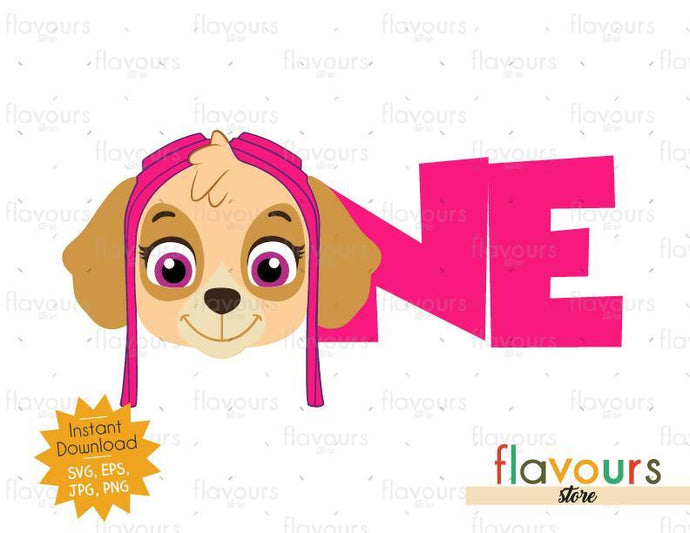 One - Skye - Paw Patrol - Instant Download - SVG FILES