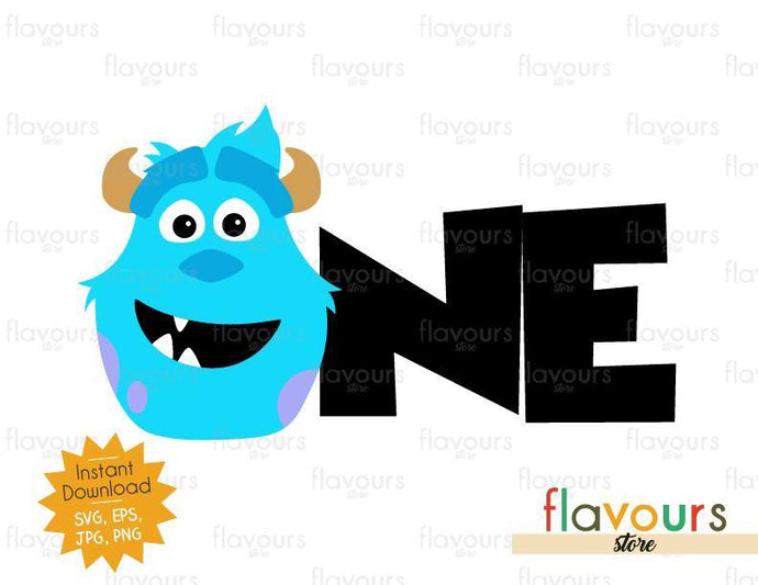 One - Sulley Monsters Inc - Instant Download - SVG FILES - FlavoursStore