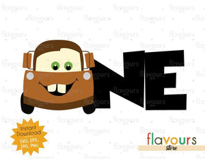 One - Tow Mater - Cars - Instant Download - SVG FILES