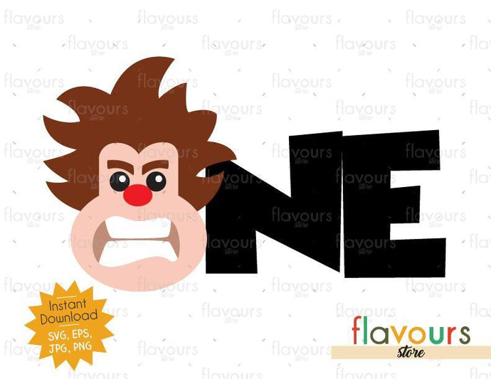 One - Wreck it Ralph - Instant Download - SVG FILES