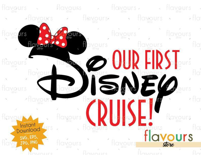 Our First Disney Trip Minnie Ears - SVG Cut File
