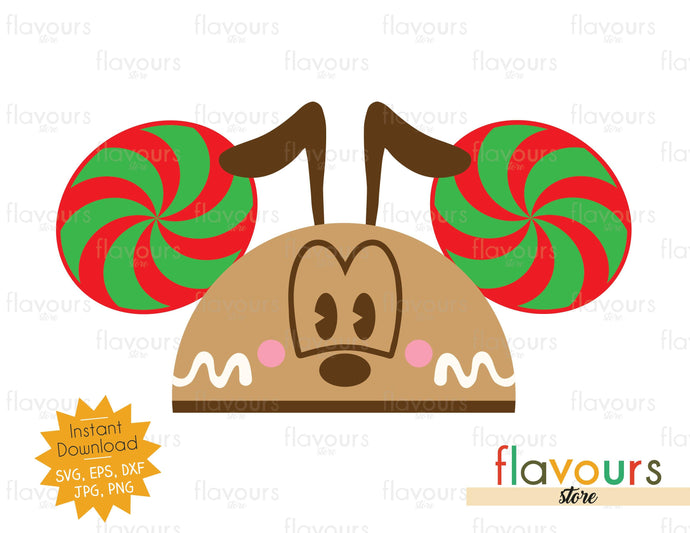 Pluto Gingerbread Hat Ears - SVG Cut File