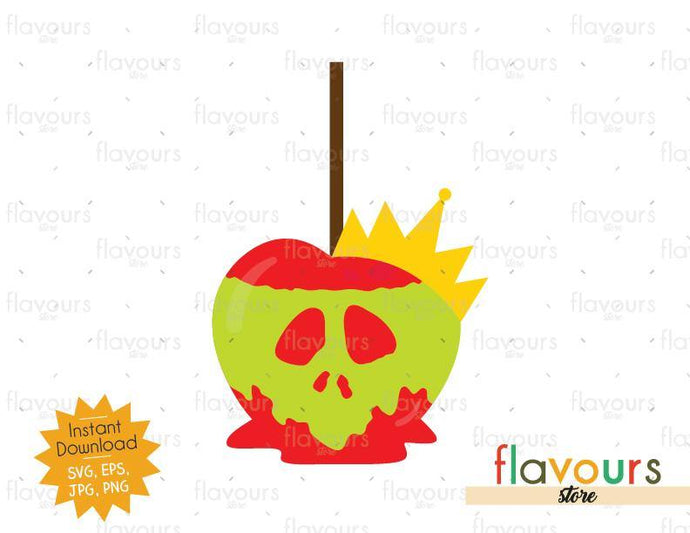 Poison Caramel Apple - Queen of Hearts - SVG Cut File