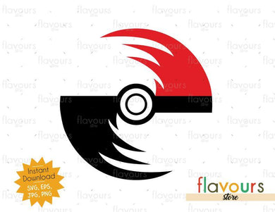 Pokeball - Instant Download - SVG Cut File