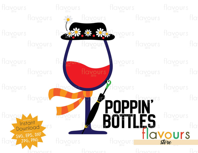 Poppin Bottles Mary Poppins Svg Cut File Flavoursstore