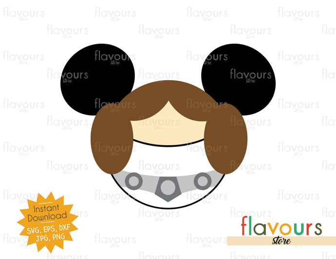 Princess Leia Ears - Star Wars - Cuttable Design Files