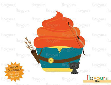 Merida Cupcake - Brave - Disney Princess - SVG Cut File