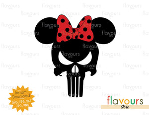 Punisher Minnie Ears - SVG Cut File