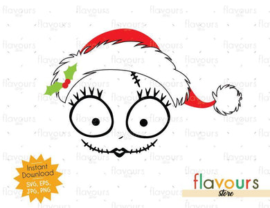 Sally Santa Hat - Christmas - Cuttable Design Files (SVG, EPS, JPG, PNG) For Silhouette and Cricut