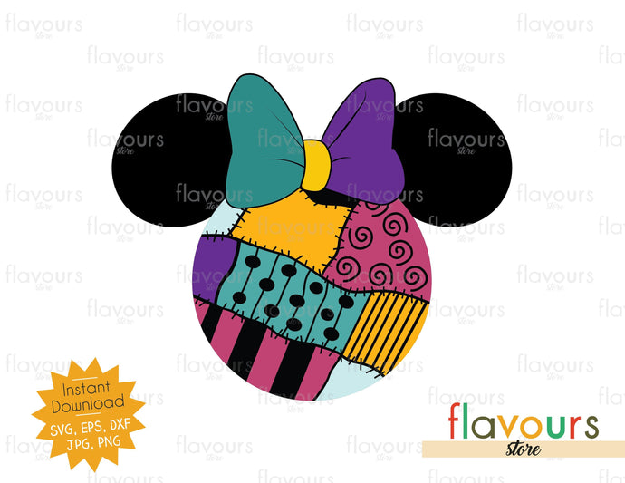 Sally Ears - nightmare before christmas - SVG Cut File