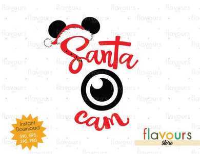 Santa Cam - Disney Christmas - Cuttable Design Files (SVG, EPS, JPG, PNG) For Silhouette and Cricut