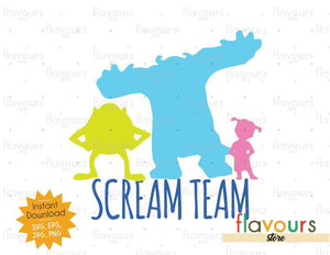 Monsters Inc Scream Team - Monsters Inc - Cuttable Design Files